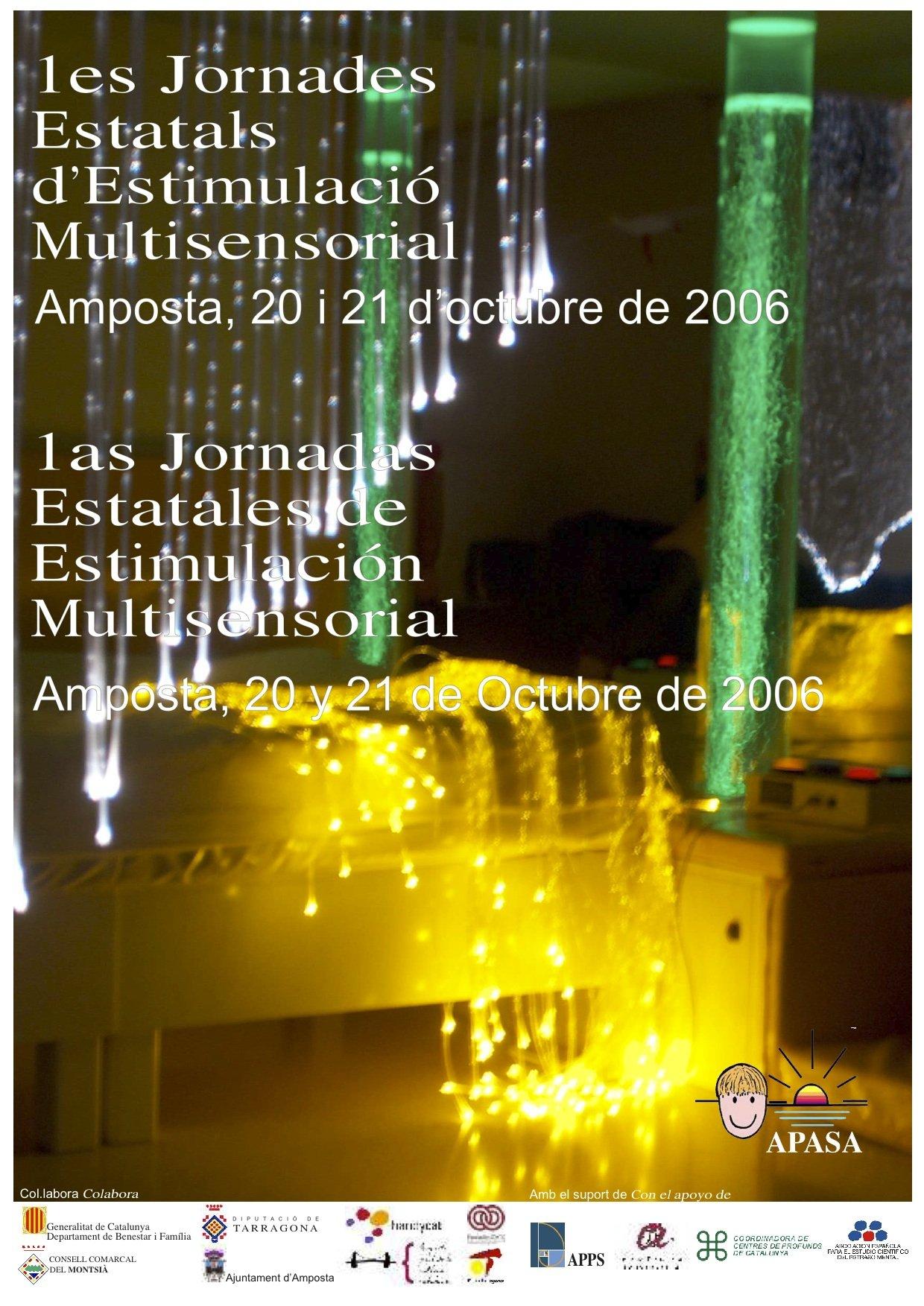 Cartell primeres Jornades d'Estimulació Sensorial i Basal