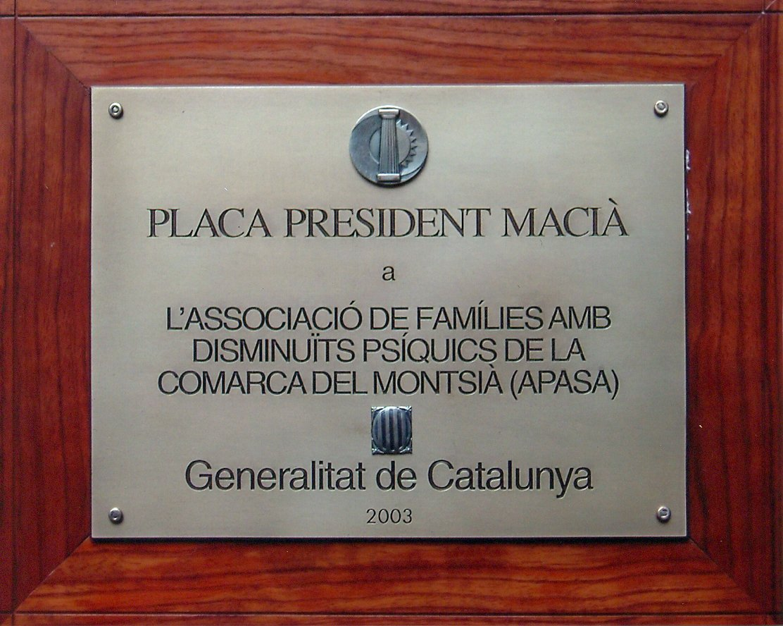 Placa President Macià