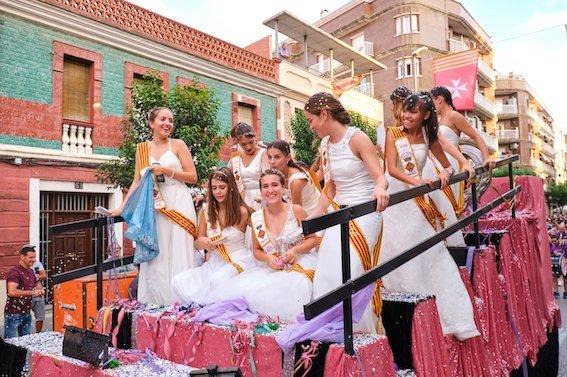 La Pubilla d'Apasa Assisteix als actes de les Festes Majors d'Amposta 2019