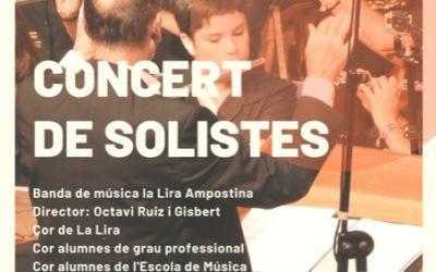 Concert de Santa Cecília a càrrec de La Lira Ampostina, Taquilla Inversa en Benefici d'Apasa