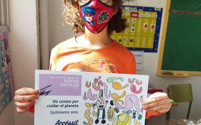 #ApasaTotAniràBé – Loredana Adina del CEE l'Àngel obté accèssit al 40è Concurs BBVA de Dibuix Escolar